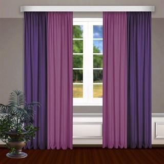Комбинированные шторы Габриэль, фиолетовый/малиновый