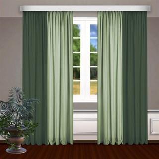 Комбинированные шторы Габриэль, зеленый/фисташковый