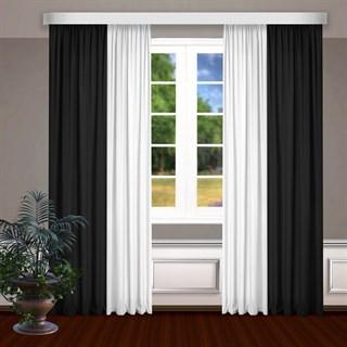 Комбинированные шторы Габриэль, белый/черный
