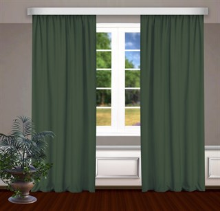 Готовые шторы Габриэль зеленые