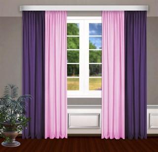 Комбинированные шторы Габриэль, розовый/фиолетовый
