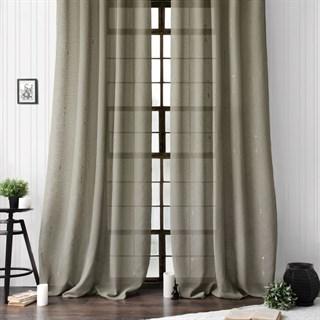Легкие шторы с вышивкой Амми капуччино