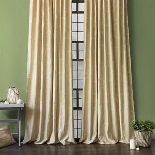Готовые шторы Pasionaria Джим с вышивкой бежевые