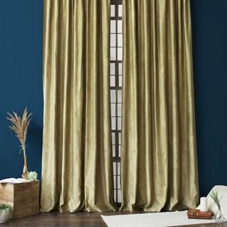 Готовые шторы Pasionaria Джим с вышивкой зеленые